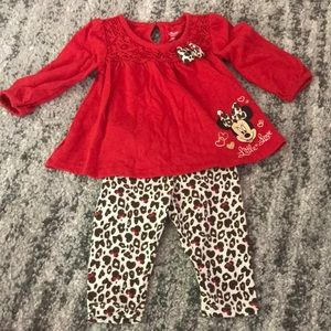 $3/10 Disney Mini Mouse Red Blouse and Pant Set